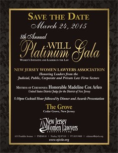 2015 WILL Platinum Gala - Save The Date