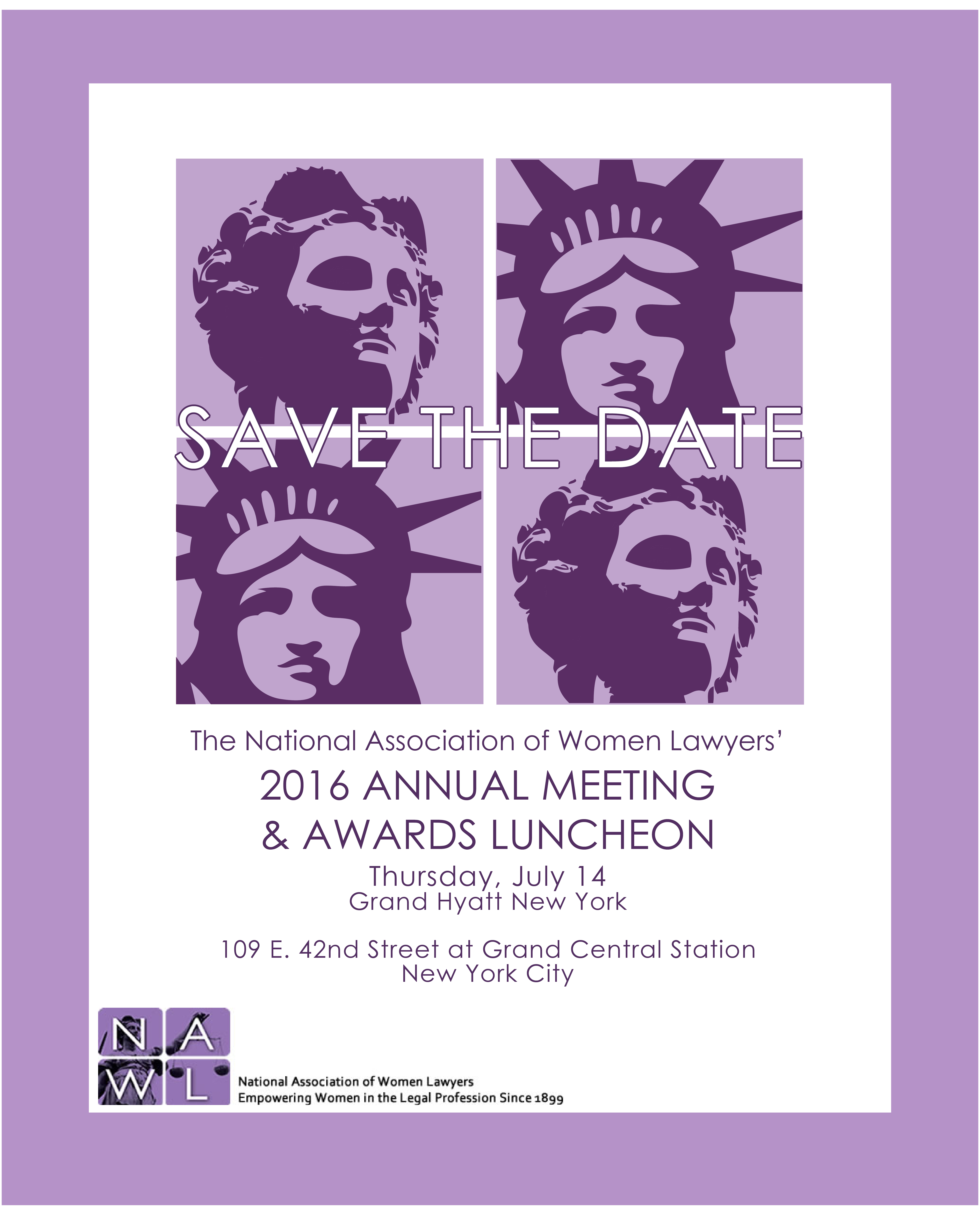 NAWL's Annual Meeting & Awards Luncheon : New Jersey Women ...